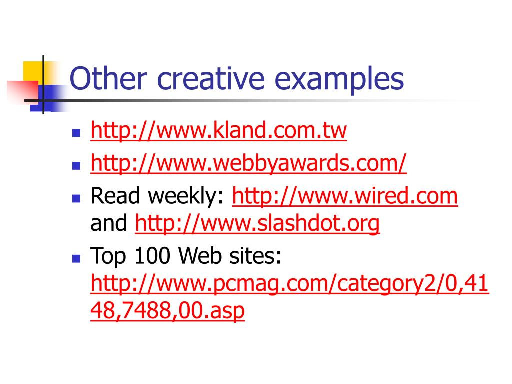 Other creative examples
