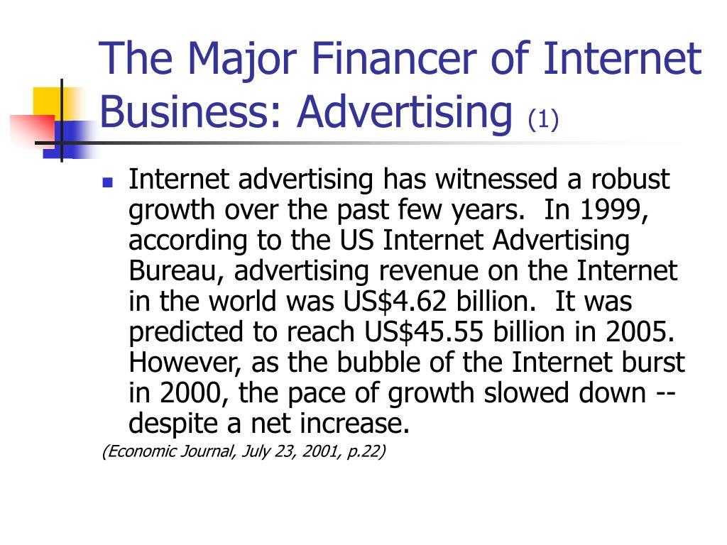 The Major Financer of Internet Business: Advertising