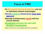 focus of find