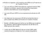 mir 469 et la r gulation de la traduction des arnm de la protamine et les transition proteins