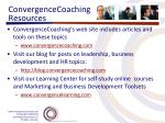 convergencecoaching resources