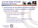 current state of small business services5