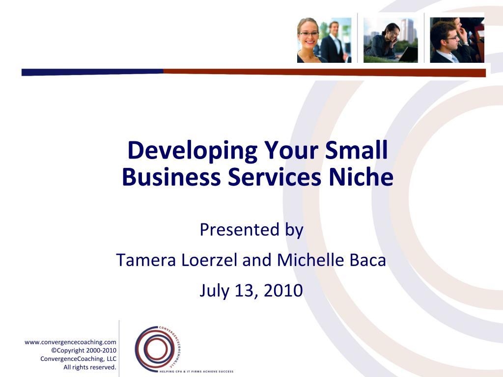 developing your small business services niche