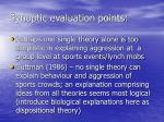 synoptic evaluation points
