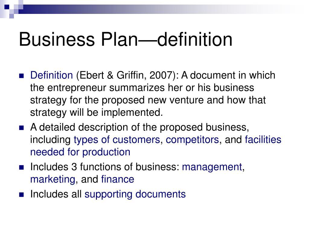 Business Plan—definition