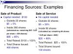 financing sources examples