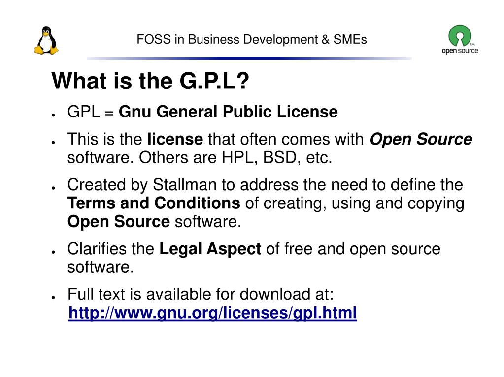 What is the G.P.L?