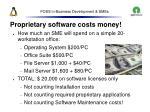 foss in business development smes30