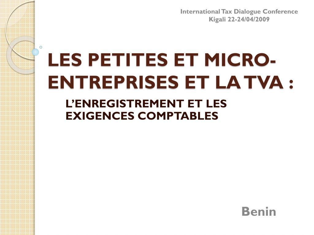 les petites et micro entreprises et la tva l.