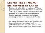 les petites et micro entreprises et la tva12