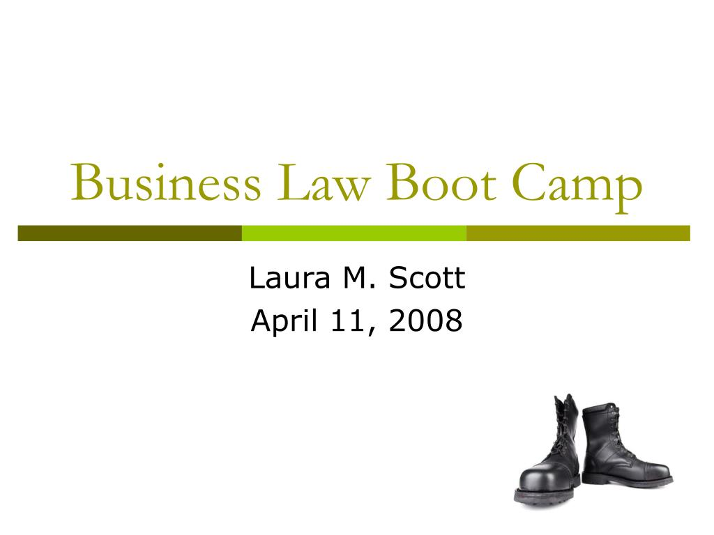 business law boot camp l.