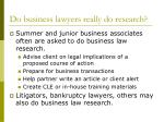 do business lawyers really do research