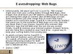 e avesdropping web bugs