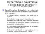 hyperphagie boulimique binge eating disorder spitzer et al 1993 dsm iv 199641