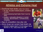 athletes and extreme heat