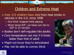 children and extreme heat