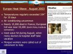 europe heat wave august 2003