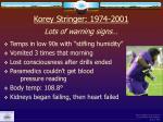 korey stringer 1974 2001 lots of warning signs