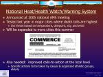 national heat health watch warning system
