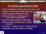 the elderly and extreme heat