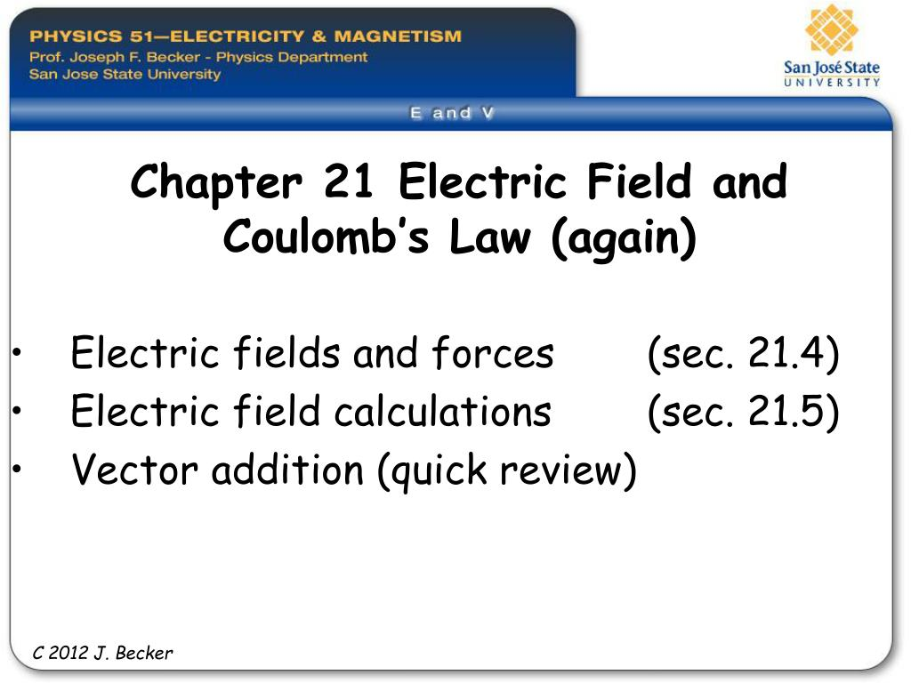 chapter 21 electric field and coulomb s law again l.