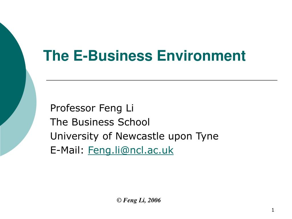 the e business environment l.