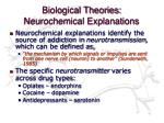 biological theories neurochemical explanations