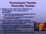 psychological theories personality theories