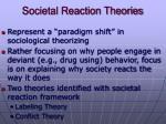 societal reaction theories