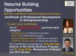 resume building opportunities