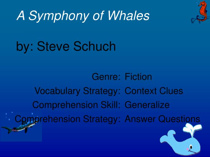 a symphony of whales by steve schuch n.