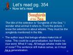 let s read pg 354