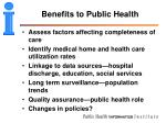 benefits to public health