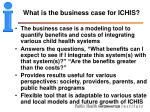 what is the business case for ichis
