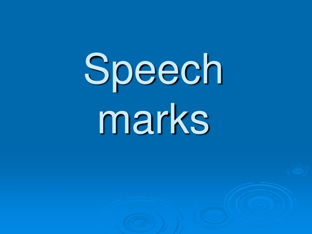 speech marks l.
