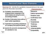 second level basic elements17