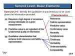 second level basic elements18