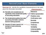 second level basic elements19