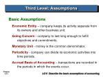 third level assumptions