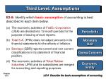 third level assumptions22