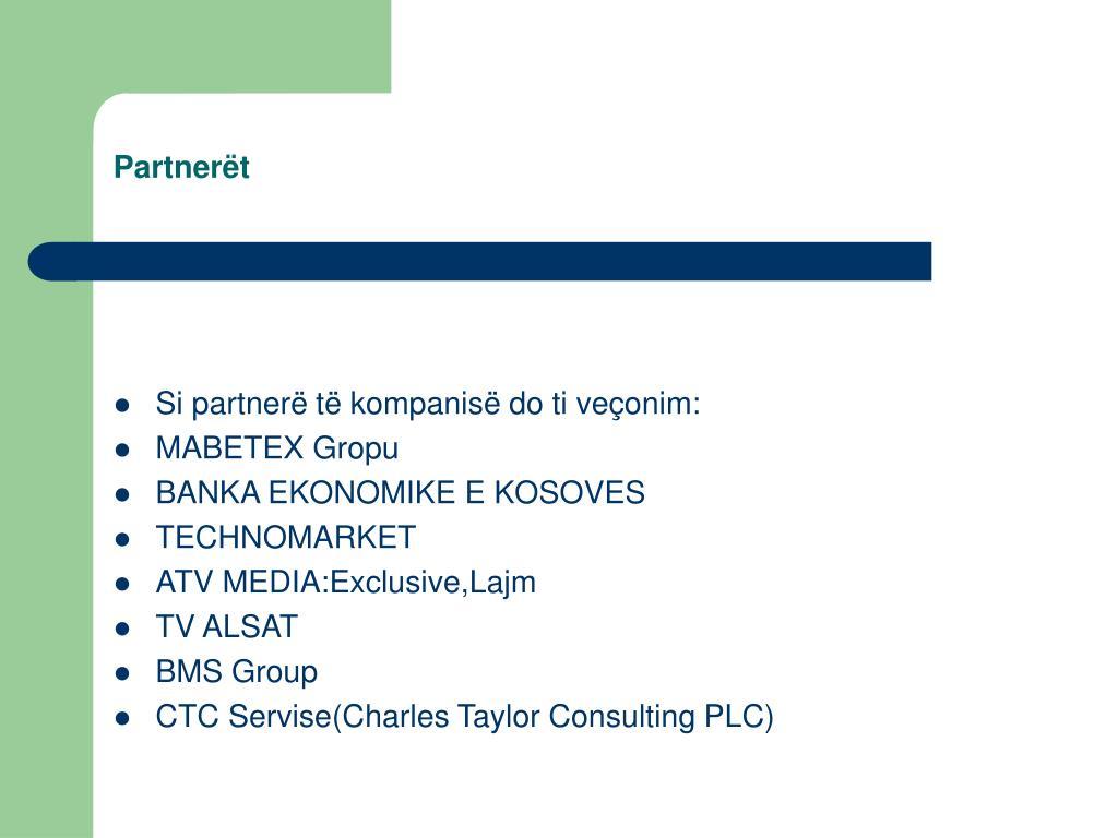 Partnerët