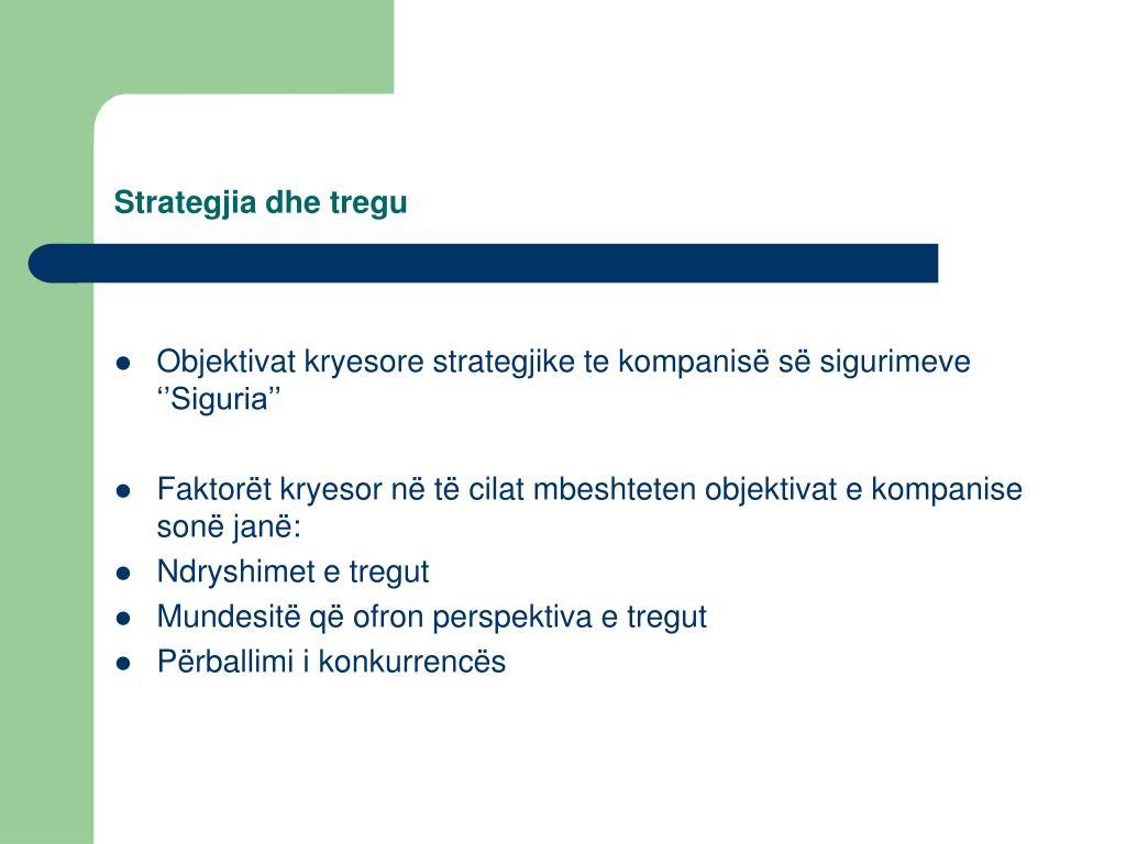 Strategjia dhe tregu