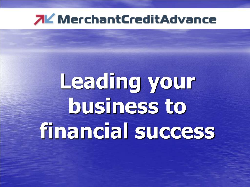 leading your business to financial success l.