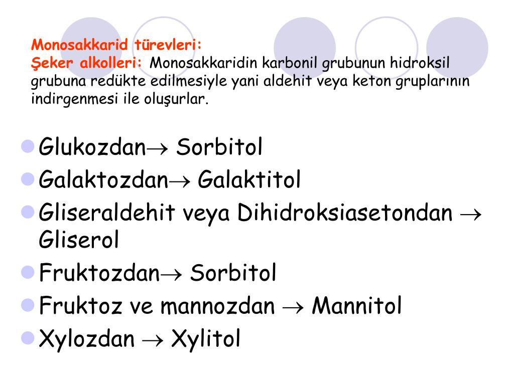 Monosakkarid türevleri: