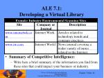 ale 7 1 developing a virtual library
