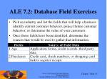 ale 7 2 database field exercises