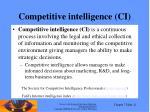 competitive intelligence ci