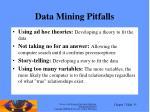data mining pitfalls