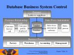 database business system control