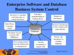 enterprise software and database business system control